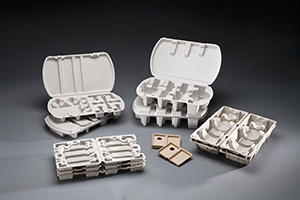 Clamshell Molded Fiber Packaging by UFP Technologies